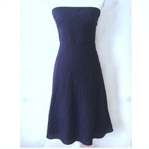 J Crew Navy  Blue Strapless Dress